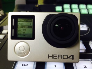 GoPro Hero 4 in front of the Datavideo HS-2200