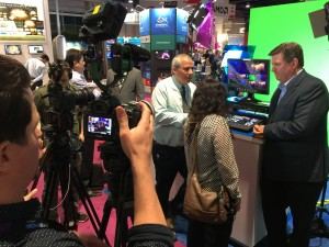 The B&H video crew stopped by the Datavideo booth to film the SE-700