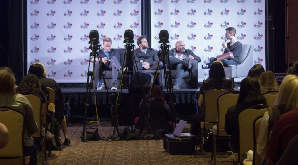 PTC-150 Cameras shooting a live panel at Regal Con 2015