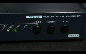 The Datavideo NVS-25 could stream and record simultaneously, however Datavideo HDR-70s were used to capture the main program out.
