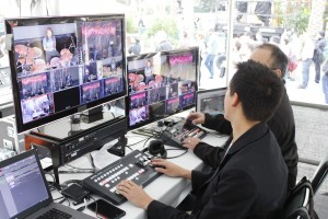 At the center of the production were four Datavideo PTC-150 Cameras, which were operated remotely and mixed with the SE-1200MU Switcher.