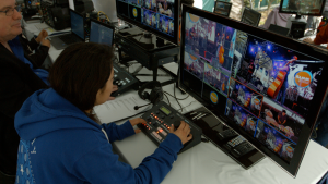 As a non-profit organization, NAMM was on a limited budget, but that didn't prove a problem for newly trained and volunteer crew at the show. Datavideo equipment is designed to be easy to use and volunteers for shows during the day learned their roles quickly.