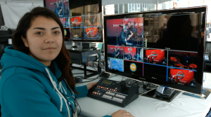 Eviana is a talented camera operator, and volunteered at the 2016 NAMM Show. She had not prior experience with robotic camera systems.