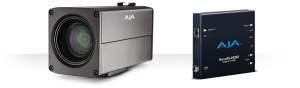 The AJA Rovocam uses HDBaseT technology to keep its profile slim. Here the single CAT5e/6 cables is utilized to elimnate the need to provide multiple ports for the cables typical video productions require.m