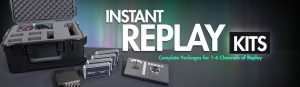 Datavideo offers one of the only mobile instant replay kits. The 'Replay-4' kit comes with all the cables you need for set up and a mobile carrying case.